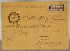 POSTA MILITARE 30^ DIVISIONE 20.10.1916 RACCOMANDATA TIMBRO DI REPARTO #XP279L