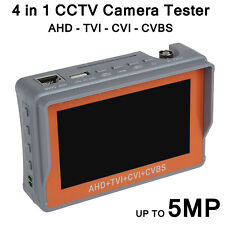TELECAMERA CCTV Tester Tool 5MP 4IN1 TVI e l'CVI riconoscimento display LCD controllo PTZ BNC UK