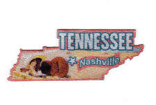 """""""NASHVILLE TENNESSEE""""  State Shape Capitol City Iron On Printed Patch"""
