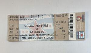 Chicago Red Stars vs Sky Blue FC Ticket Stub Toyota Park WPS Soccer 4/25/10 2010