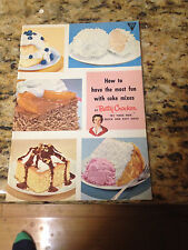 Betty Crocker How To Have The Most Fun With Cake Mixes Cookbook, 33 pgs