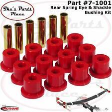 Prothane 7-1001 Rear Spring Eye & Shackle Bushing Kit 67-94 Chevy Trucks