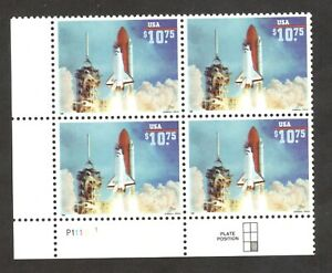 2544A Space Shuttle Endeavor Express Mail Plate Block Mint/nh FREE SHIPPING