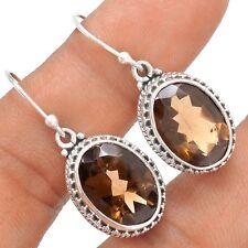 Smokey Topaz 925 Sterling Silver Earrings Jewelry SE120135