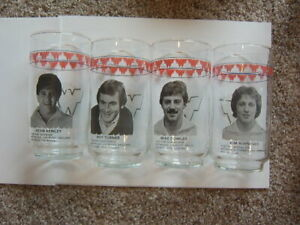 4 Wichita Wings Soccer Team Players MISL Glass Tumblers Johnson General Store