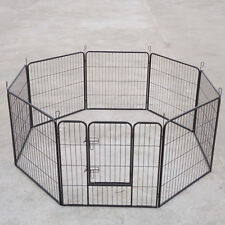 """32"""" *8 Panel Pet Dog Puppy Playpen Portable Exercise Cage Fence Enclosure P043"""