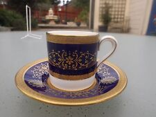 Coalport LADY ANNE cobalt blue and gold coffee can(s) / saucer(s)