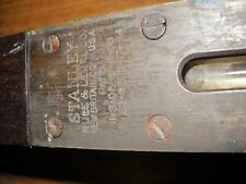 """30"""" Stanley Ruler Level Antique brass wood Tool"""