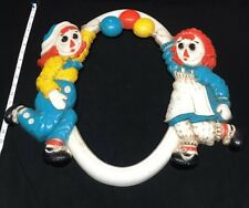 Vintage 1977 Raggedy Ann & Andy Mirror/Picture Frame - Merrill - 19�x19� - Rare