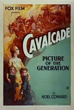 CAVALCADE Movie POSTER 27x40 B Diana Wynyard Clive Brook Herbert Mundin Una