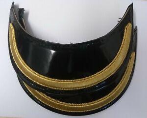 "Genuine British Made Senior Officer 5/8"" Gold Mylar Dress Cap Peak X2 PEK040"