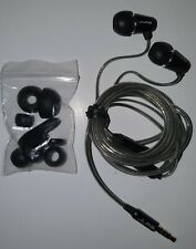 JLab Premium Earbuds Black w/ Mic & Ear Replacement Pieces