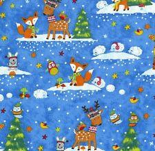 Winter Woodland Patchworkstoff Kinder Patchwork Stoffe Kinderstoffe Weihnachten