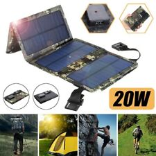 20W USB Solar Panel Phone Charger Portable Folding Power Charger for Camping