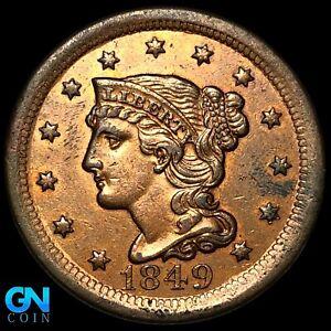1849 Braided Hair Large Cent --  MAKE US AN OFFER!  #K8192