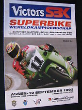 Program SBK Superbike World Championship TT Circuit Assen 12 sept 1993 (TTC)