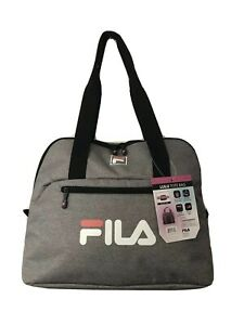Fila Tote Bag Gym Workout Bag Yoga Mat Straps Checkpoint-Friendly