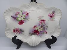 ANTIQUE A. LANTERNIER & CO LIMOGES FRANCE HAND PAINTED PORCELAIN SERVING TRAY