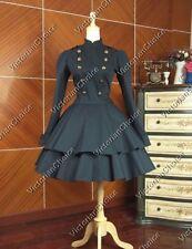 Victorian Gothic Cosplay Lolita Military Coat Dress Steampunk Clothing C022 XXXL