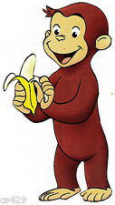 "3.5"" Curious george monkey banana peel & stick wall border cut out character"