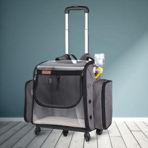 LDLC Folding trolley pet bag universal wheel dog backpack cat's RV carrier bag