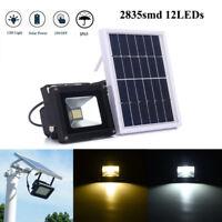12 LED Solarleuchte Solarlampe Flutlicht Licht-Sensor Außenleuchte Wasserdicht
