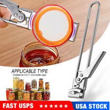 Easy Stainless Steel Can Opener Jar Lid Gripper Adjustable Multifunctional