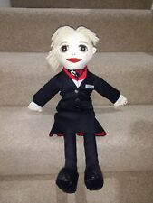 Hand-Painted Stewardess Doll British Airline Cabin Crew Airways Your Name Badge