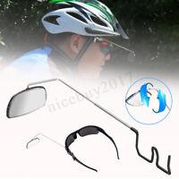 Pro Bike Fahrrad Radfahren Reiten Spiegel Helm Mount Rearview hintere Ansicht