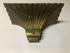 Vintage Solid Brass Wall Sconce - 1979 Chapman