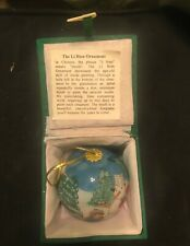 Li Bien 1997 Hand Painted Children Building Snowman Glass Ornament  in Box