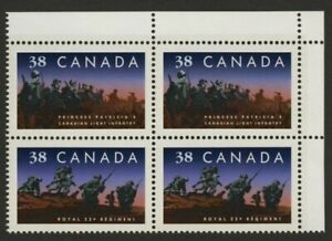 Canada 1250a TR Block MNH Infantry Regiments, Military