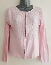 GANT Women's Stretch 100% Cotton Cardigan. Baby Pink. Size Medium.