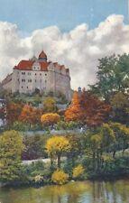 AK, Grafik, Schloß Zschopau - Blick vom Wasser, 1930; 5026-97
