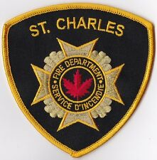 St. Charles Fire Dept. yellow border Canada  Firefighter Patch NEW!!