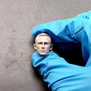 """Blank 1/12 Scale James Bond Daniel Craig Head Sculpt Unpainted Fit 6"""" ML Figure"""