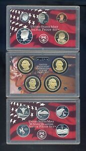 United States Mint Silver Proof Set 2007 with box and certificate