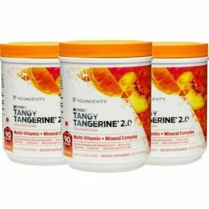 Youngevity Beyond Tangy Tangerine 2.0 Citrus Peach Fusion canister 3 Pack
