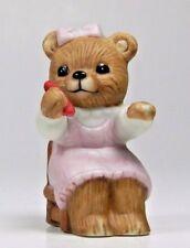 Vintage Homco Porcelain Bear Figurine - Series #1409 - Girl Sitting in Chair