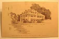 1910 Newton Sanatorium, West Newton, Mass. Postcard