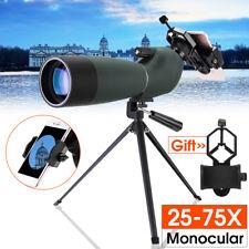 25-75X70 HD Etanche Zoom Monoculaire Télescope Repérage +Trépied Téléphone
