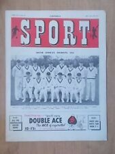VINTAGE 1950's SPORT MAGAZINE MAY 11th 1951 - SOUTH AFRICA CRICKET TOURISTS