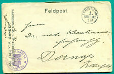 1915 FELD POSTAMT 1. ARMEE CPS FELDFLIEGER ABTEILUNG 14 BRIEF - DORMAP AIR