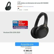 Sony WH-1000XM3 Cuffie Wireless Over-Ear, Noise Cancelling, Bluetooth con Alexa
