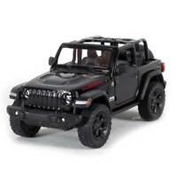"""5"""" Die-cast: 2018 Jeep Wrangler Rubicon Conv. (Black) 1/34 Scale"""