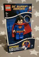 New in box Lego Superman Torch Keyring - Genuine Lego