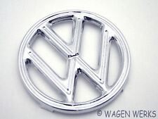 VW Bug  Hood Emblem - Bug 1952 to 1960 4 Tab - German
