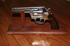 "12"" Solid Walnut Wood Pistol Display Gun Stand for DA Revolvers with 4"" barrel"