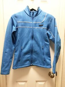 Under Armour Womens Size Small Light Sky Blue Jacket Full Zipper Fleece