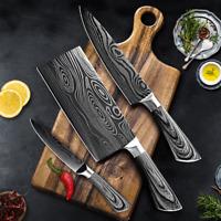 5 7 8 pouces 7Cr17 440C Couteau cuisine couperet acier inoxydable Chef Santoku